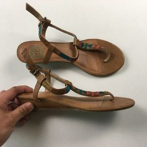 Dolce Vita DV Sandals Brown Leather Size 8